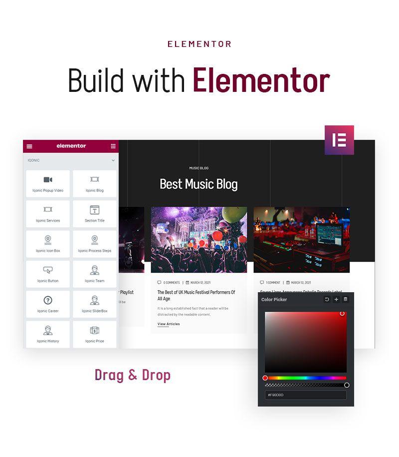 Music Concert WordPress Theme | Ereignis | Iqonic Design music concert wordpress theme Ereignis 04 elementor