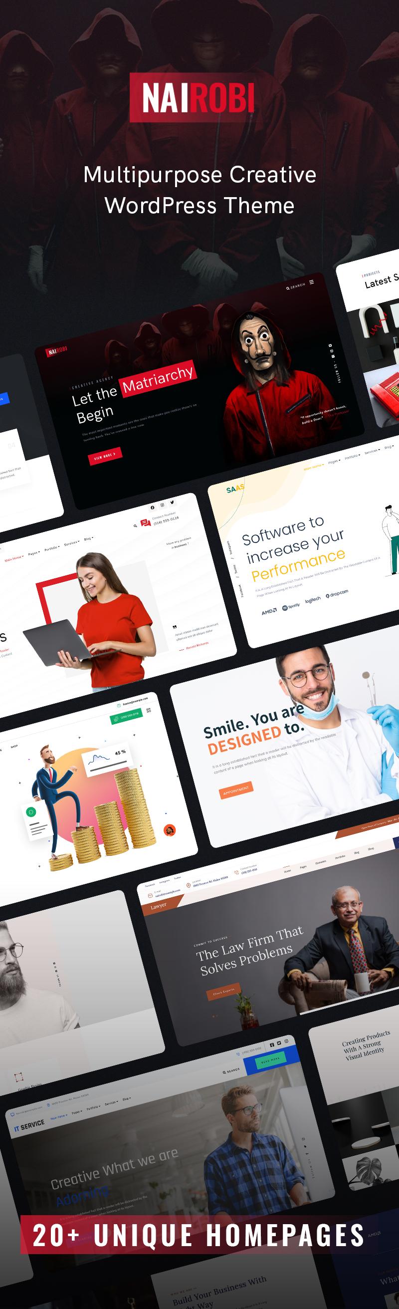 Creative Business WordPress Theme | Nairobi | Iqonic Design