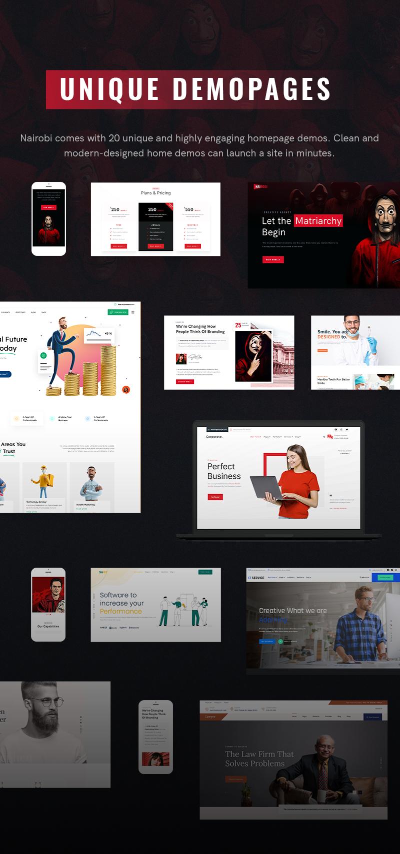 Creative Business WordPress Theme | Nairobi | Iqonic Design creative business wordpress theme Nairobi 4