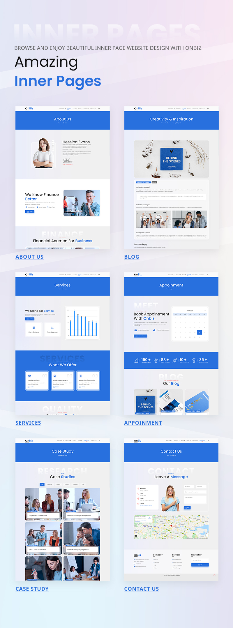 Onbiz - Corporate Business WordPress Theme