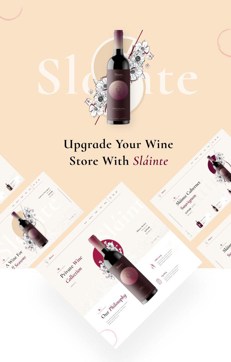 winery and wine store wordpress theme Slainte 1