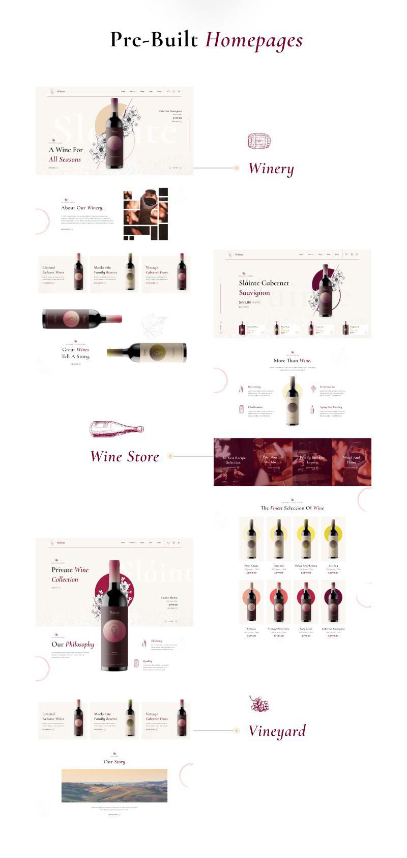 winery and wine store wordpress theme Slainte 2