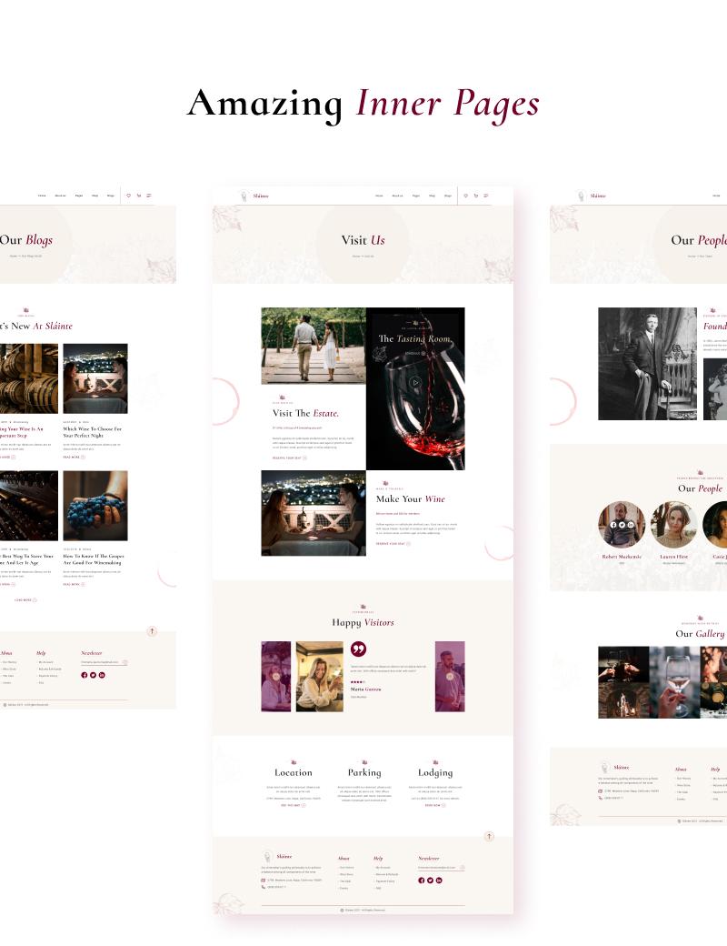 winery and wine store wordpress theme Slainte 3