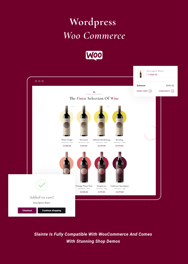 winery and wine store wordpress theme Slainte 4